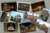 Rome. collage van foto 's — Stockfoto