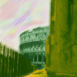 Rome. Colosseum. Abstract photo — Stockfoto