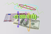 Economy and monetary system — Stockfoto