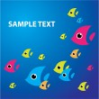 Royalty-Free Stock Imagen vectorial: Sea-fish-background