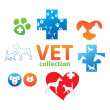 Vet-collection - Stock Vector
