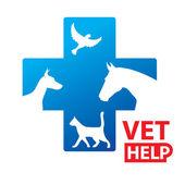 Help-vet — Stock Vector