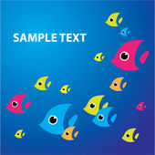 Sea-fish-background — Stock Vector