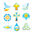 Collection-religious-symbols — Vettoriali Stock