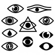 Royalty-Free Stock Vector Image: Eye. Character set - eyes