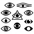 Stock Vector: Eye. Character set - eyes