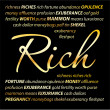 Rich. Background - riches. — Stock Vector