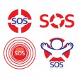 Stock Vector: Set-sos