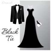 Black-tie — Stock Vector