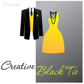 Creative-black-tie — Stock Vector