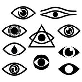 Eye. Character set - eyes — Stock Vector