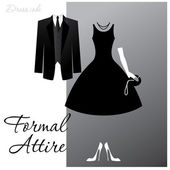 Formal-attire — Stock Vector