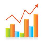Graphic-progress — Stock Vector