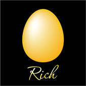 Rich-golden-egg — Stock Vector