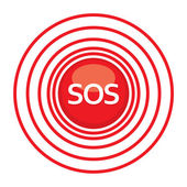 Sos-need-help — Vector de stock