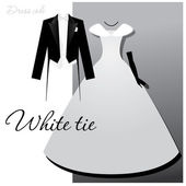 White-tie — Stock Vector