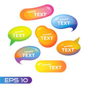 Abstract-speech-bubble-eps10 — Stock Vector