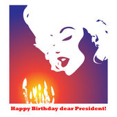 Happy-Birthday-dear-President! — Stock Vector