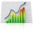 Business statistics graph rising — Stock Photo #5792151