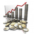 Money statistics graph — Stock Photo
