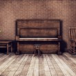 Old room with piano background — Stock Photo #5792382