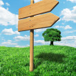 Wooden signpost background — Stock Photo