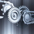 Gear mechanism background — 图库照片