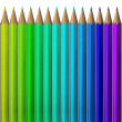 Pencil color palette — Stock Photo