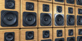 Wall of speakers — Stock Photo