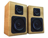 Wooden speakers — Stock Photo