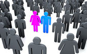 Stand Out - individuality — Stock Photo