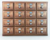 Old vintage drawer cabinet — Stock Photo