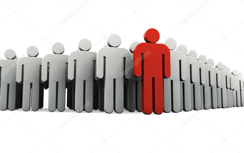 Human silhouette leading group of — Stock Photo #5792729