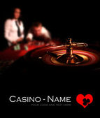 Casino Roulette black poster — Stockfoto