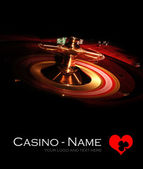 Casino Roulette black poster — Stock Photo