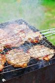 Carne en la parrilla de la barbacoa — Foto de Stock