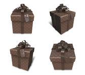 Regalo marrón decoración 3d — Foto de Stock