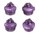 3d decorated purple gift — Stock Photo