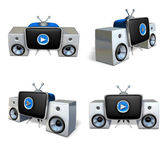 3d stereo system array — Stock Photo