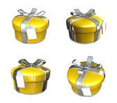 3d eingerichteten gelb geschenk — Stockfoto