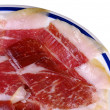 Dish of Iberian ham - Foto Stock