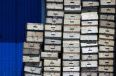 Wooden boxes — Stock Photo