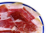 Dish of Iberian ham — Stock Photo