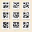 Set of vector marketing qr codes - Stock Vector