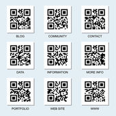 Set of vector Internet qr codes — Cтоковый вектор