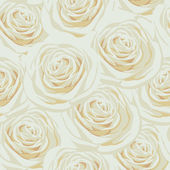 Seamless pattern with beige roses — Stock Photo