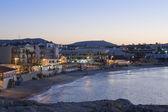 Port of Hersonissos at twilight — Stock Photo