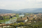 Florence cityscape scenic view — Stock Photo