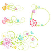 Floral design elements. Vector illustration. — Stock Vector