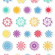 Set of flowers. Vector illustration. — Stockvectorbeeld
